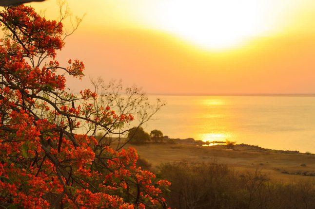 Sunset Over Itezhi Itezhi Dam