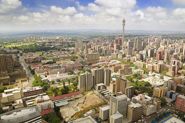 City View of Johannesburg, South Africa