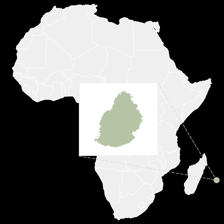 Map of Mauritius Island
