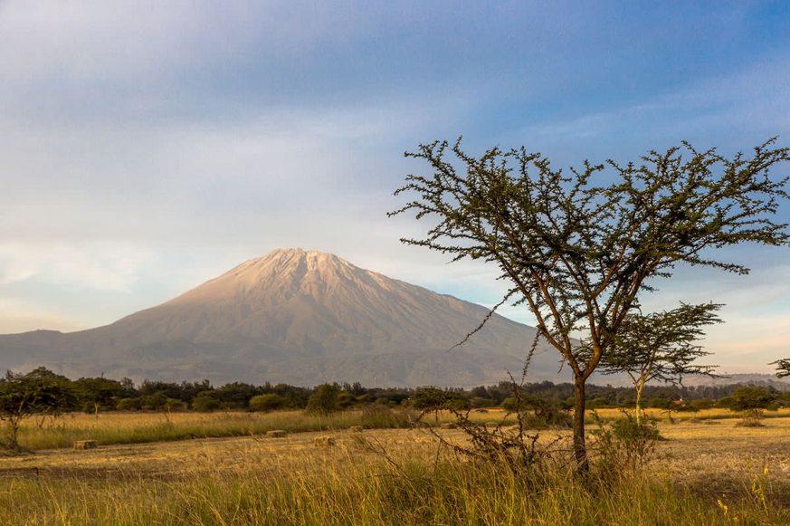 Meru Mountain in Arusha, Northern Tanzania, Africa