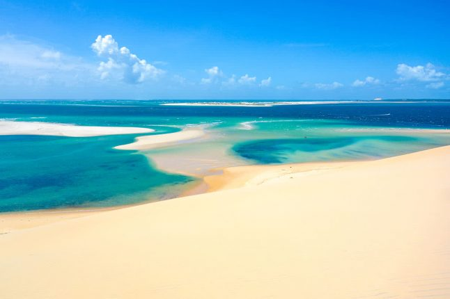 Sand Dunes and Beaches in Mozambique
