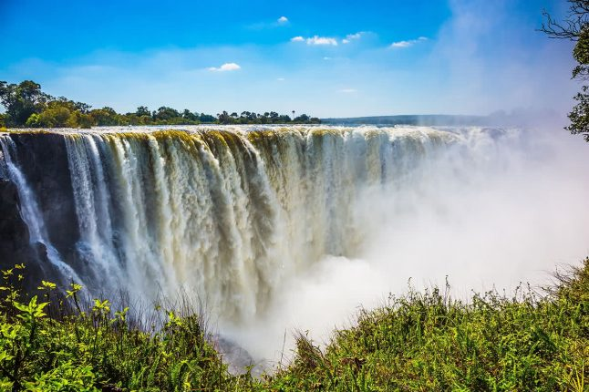 Victoria Falls on the Zambezi River in South Africa