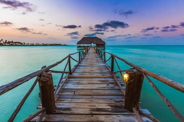 Zanzibar Jetty at Sunset