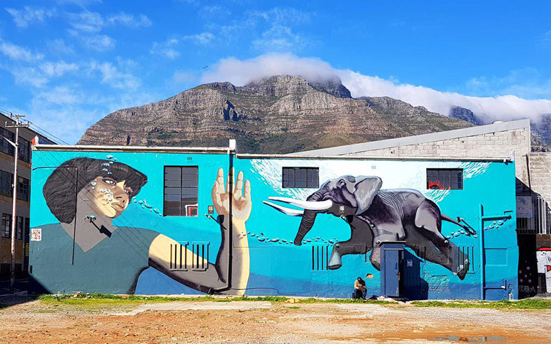 Art Mural in Cape Town, Africa