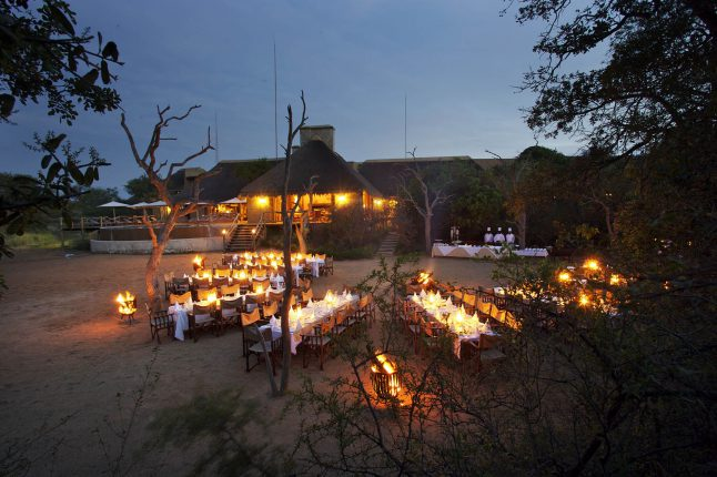 Kapama River bed dinner